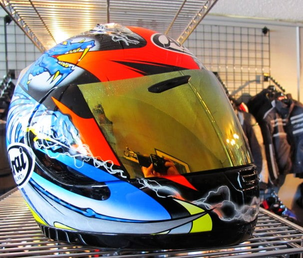 01786 Arai Helmet, Dragon (Is my head on fire?)
