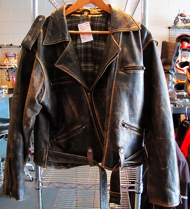 cc6d079ed9e Distressed Vintage Copper Classic Rub-off Brown Leather Jacket