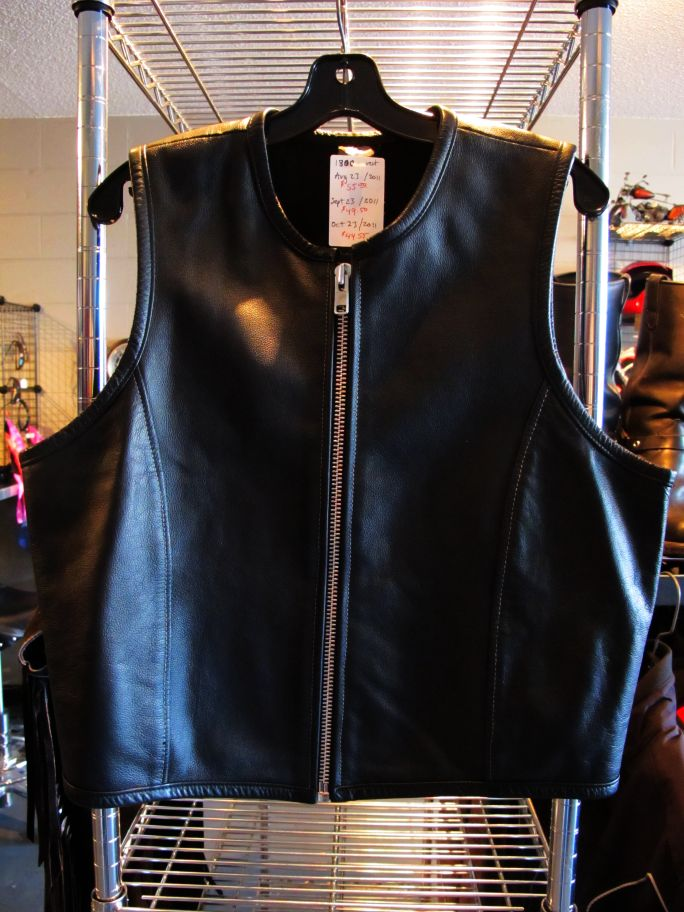 01800 leather vest, ziiiiiiiiip
