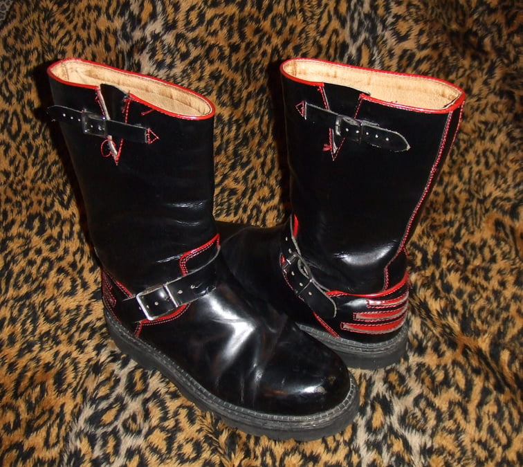 "Fluevog ""Safety Vogs"" engineer boots"