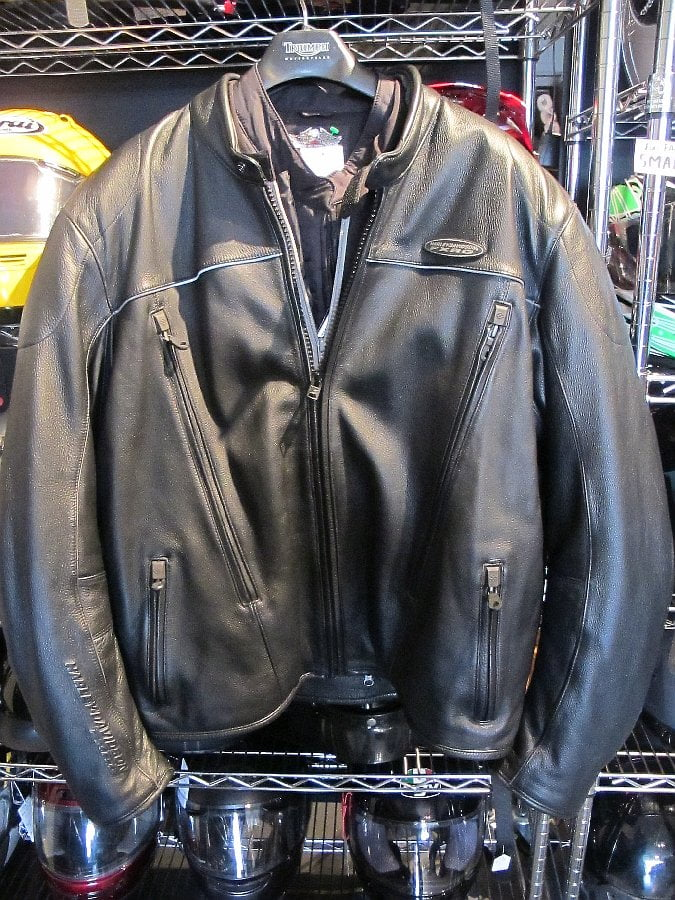 Harley Davidson FXRG Heavy weight motorhome, I mean leather jacket