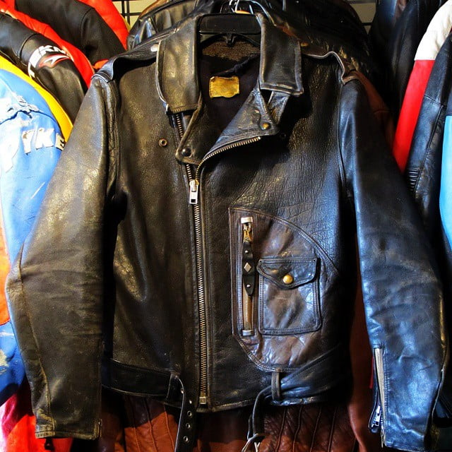 Someone just brought me this beauty to sell for them.  Wow.  Looks like a size 42. Stock #7141. Beck Northeaster Horsehide Motorcycle Jacket from the 1940s or early 1950s.