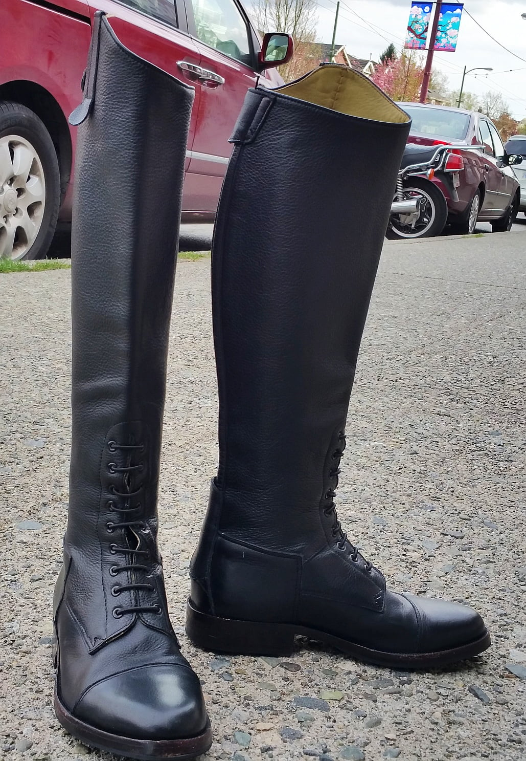 Beautiful, tiny calf boots…