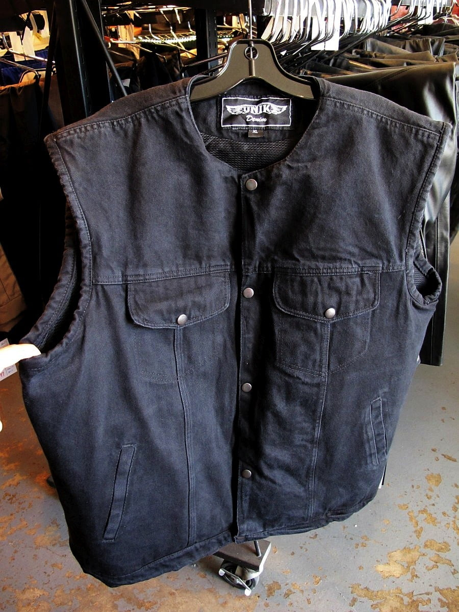 Classic Black Denim Vest… with Pockets!