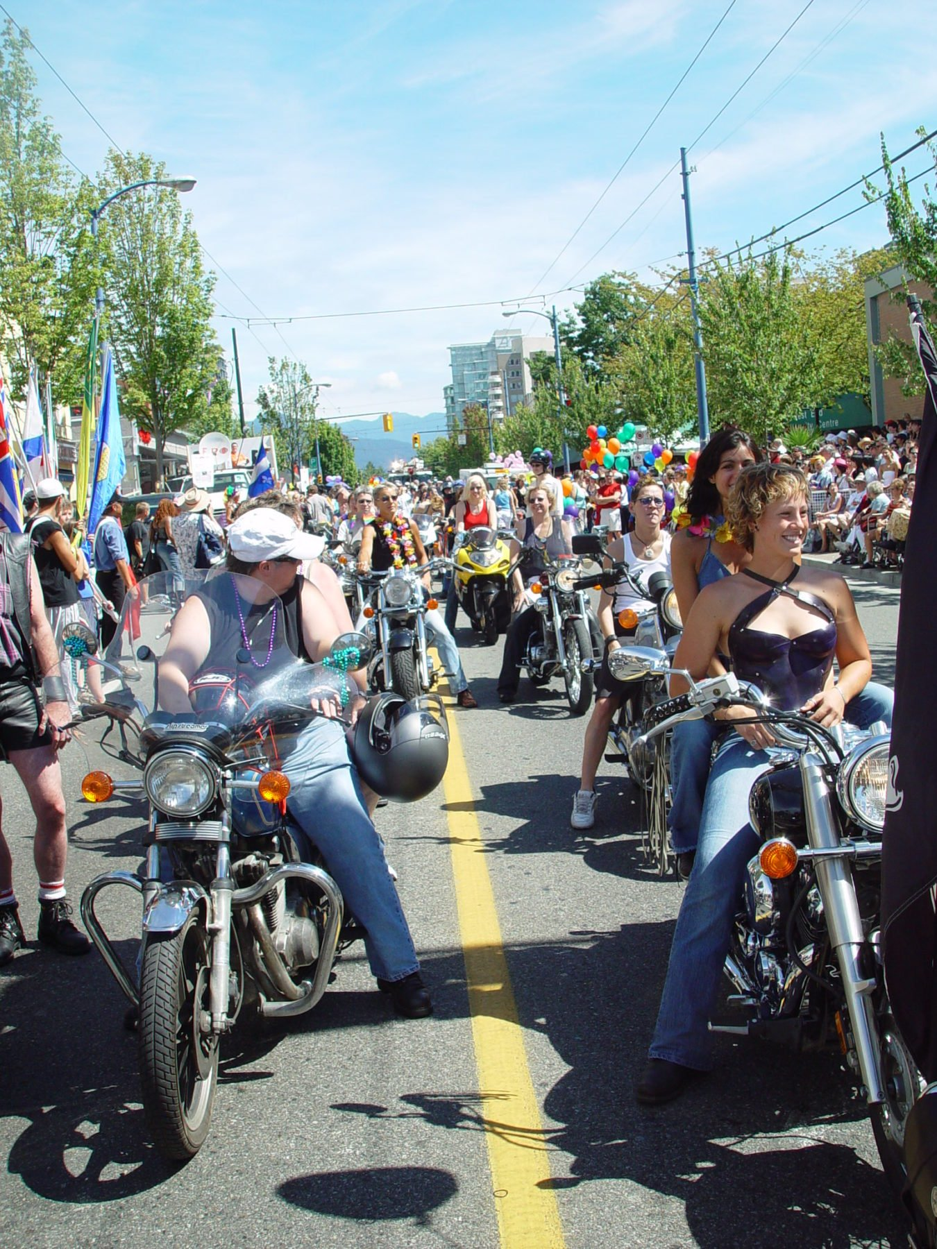 Dykes on Bikes in the Pride Parade Sunday Aug 6 2017