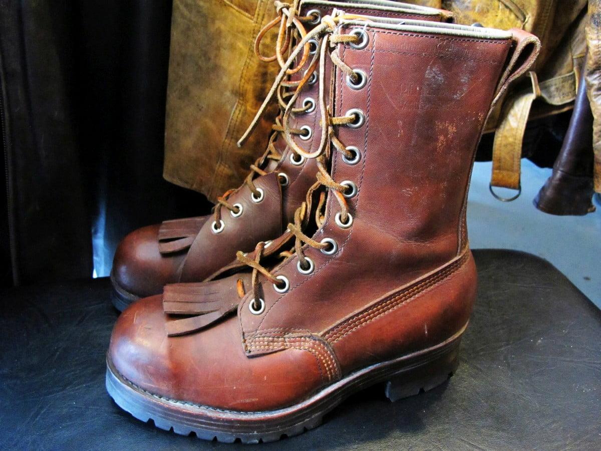 Pierre Paris Amp Sons Vintage Logging Boots East Side Re Rides