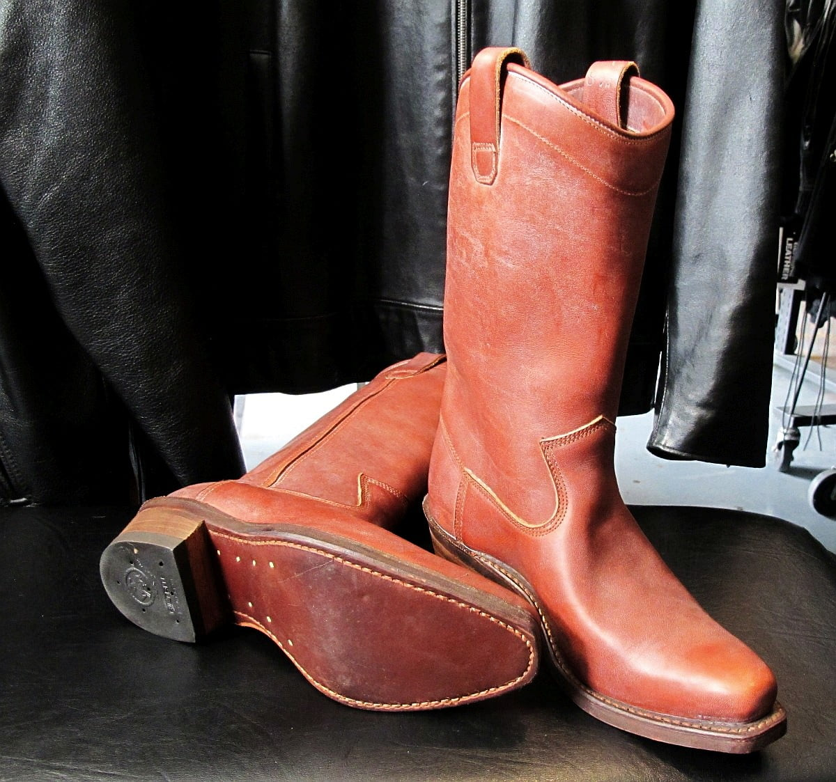 Dayton Mustang Boots (Brown Beauty), Vintage 1970 Deadstock