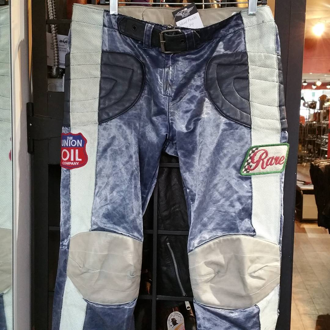 Funky motorcycle fashion. Size 34. #rerides