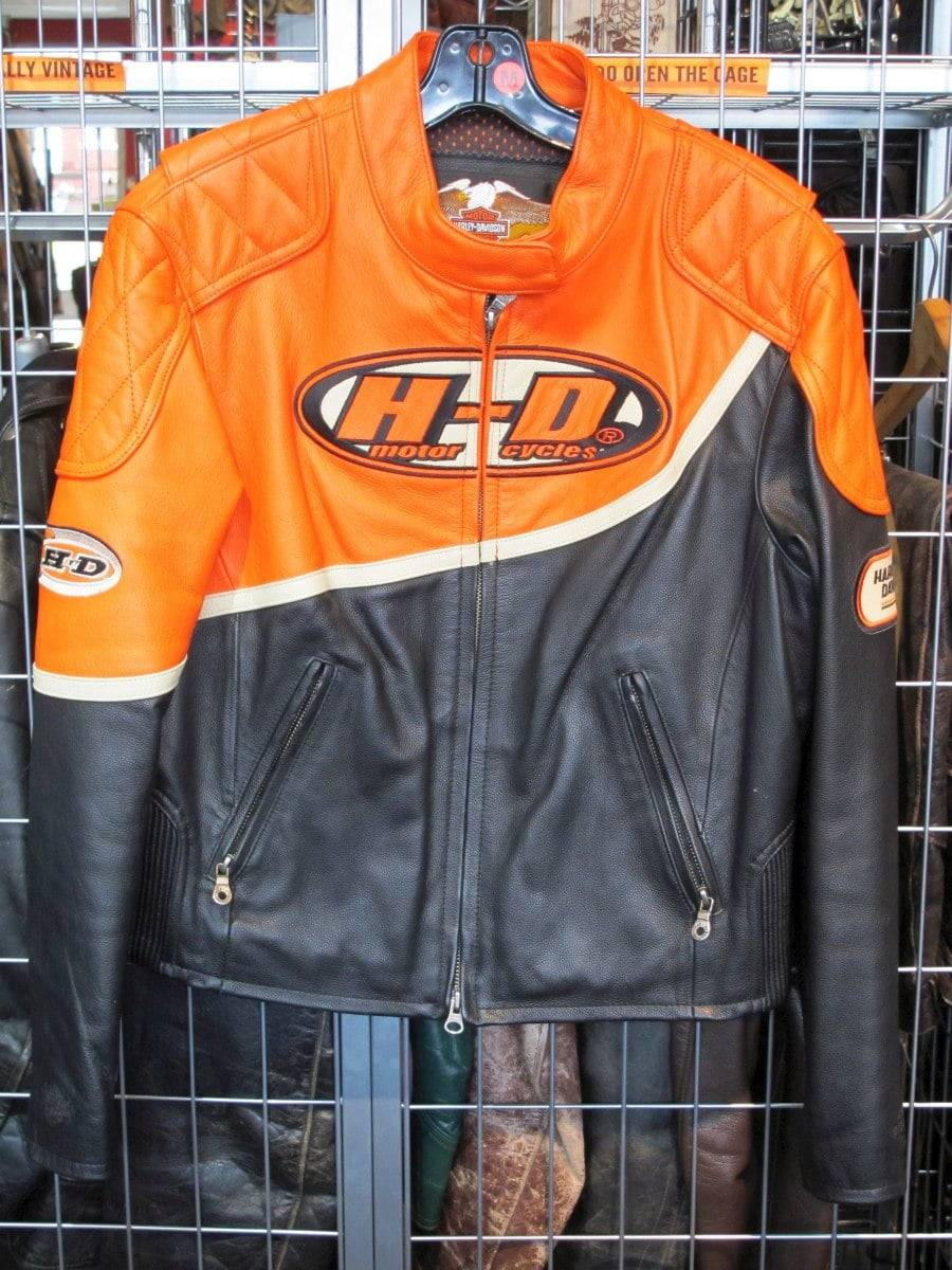 Classic Harley Davidson Orange Jacket