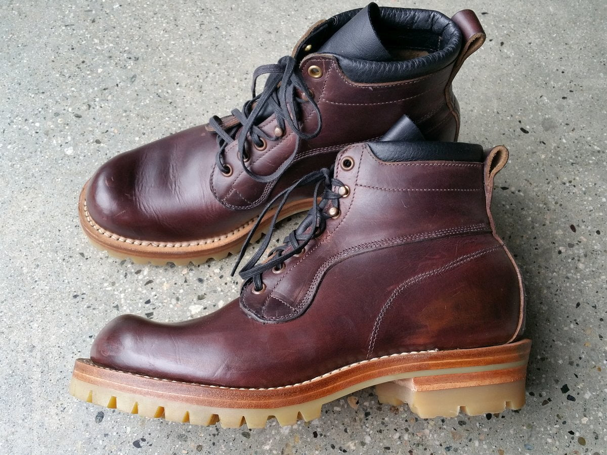 Viberg X Nigel Cabourn Apsley Scott explorer boots.
