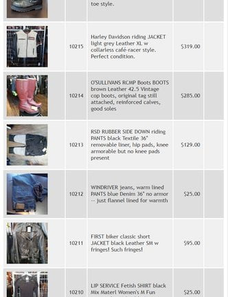 New! East Side Re-Rides consignment inventory online. With pictures!