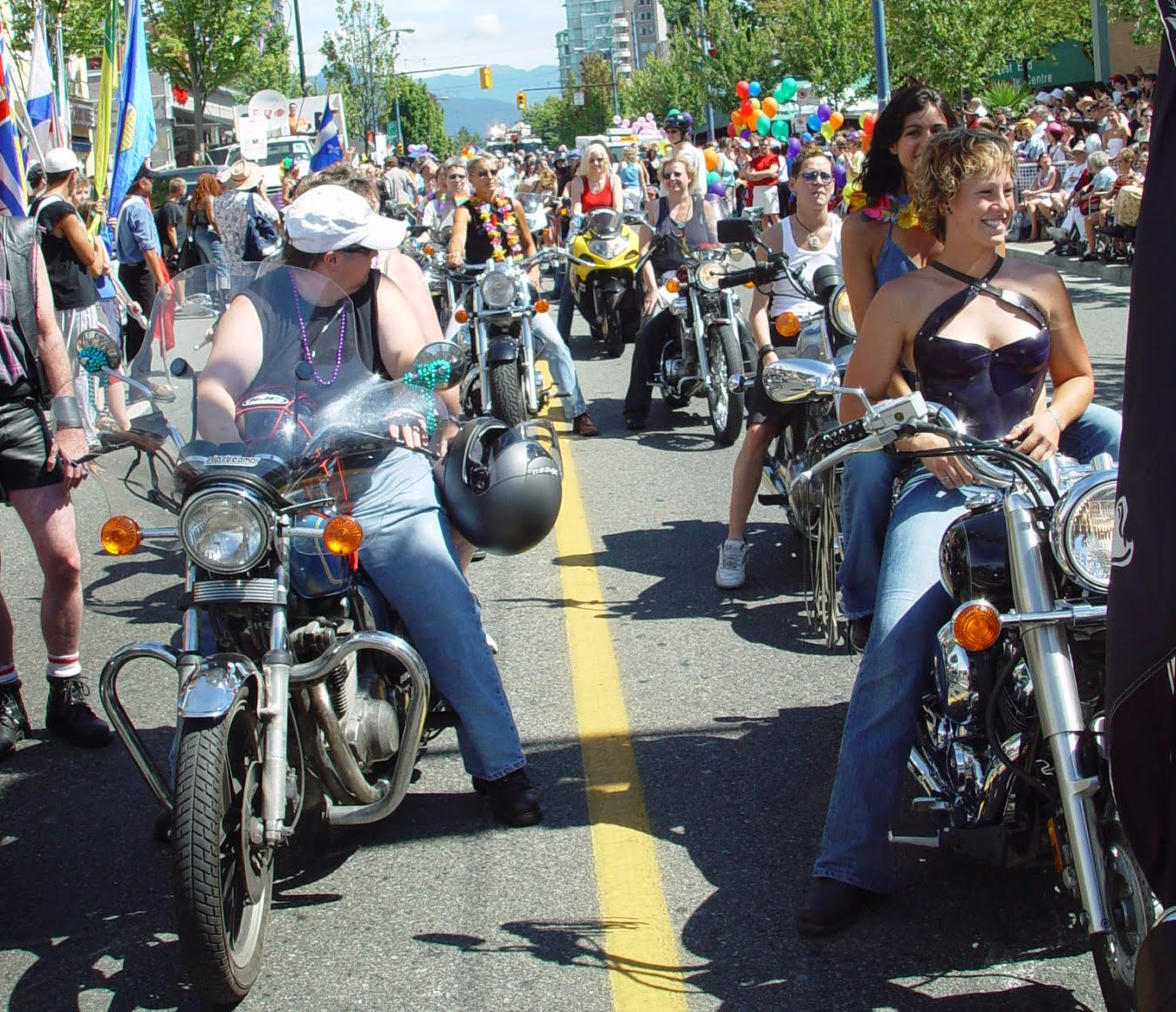 Dykes on Bikes in the Pride Parade