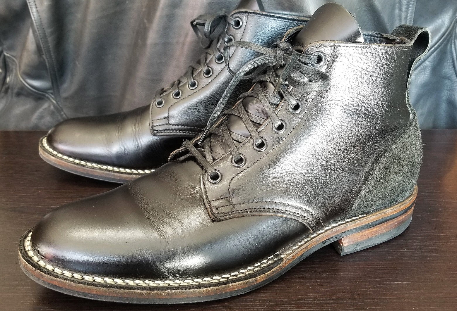 Viberg Service boots. (Wings + Horns collab) Black, size 42.5
