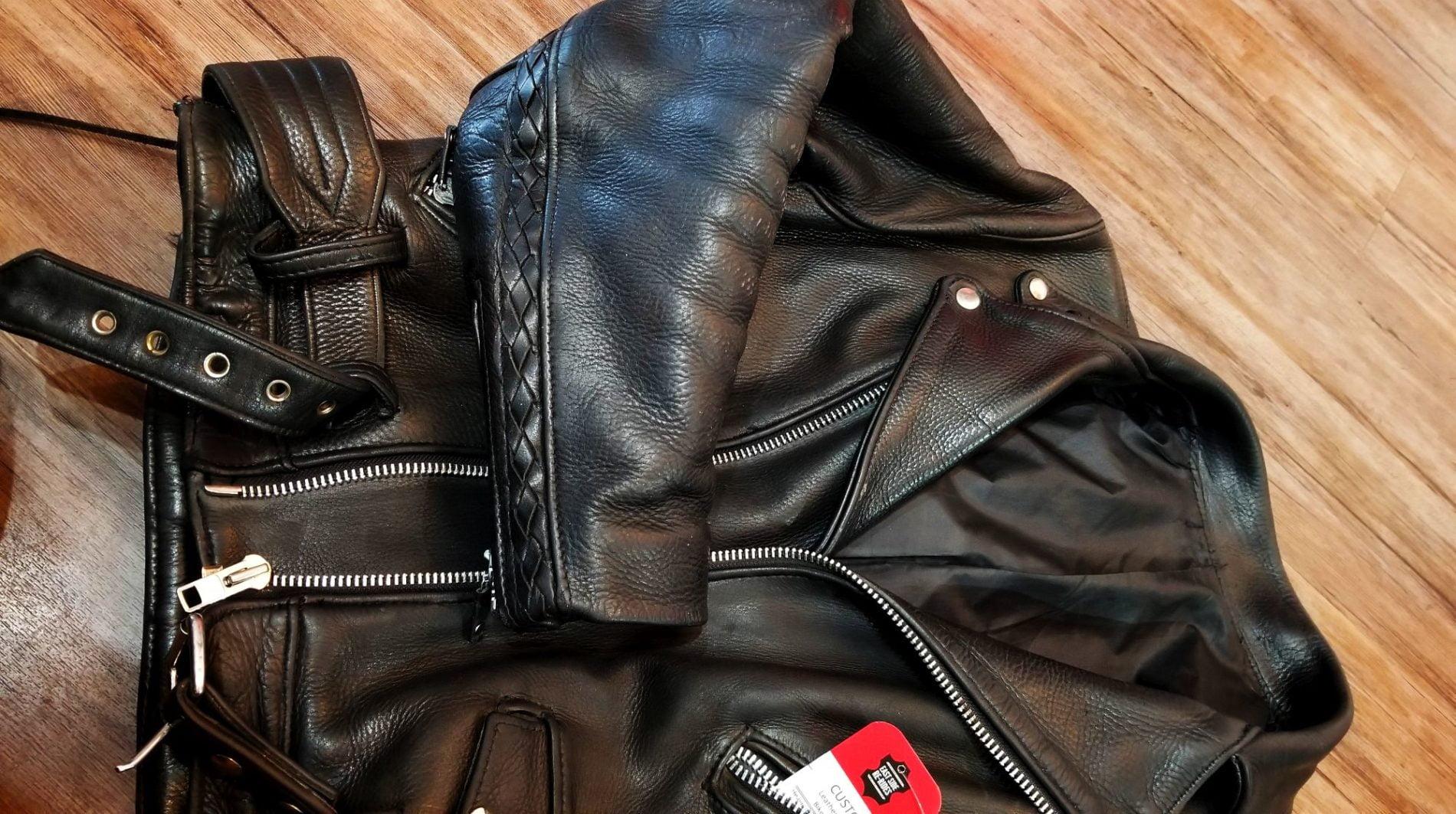 Heaviest leather jacket we've seen ever!