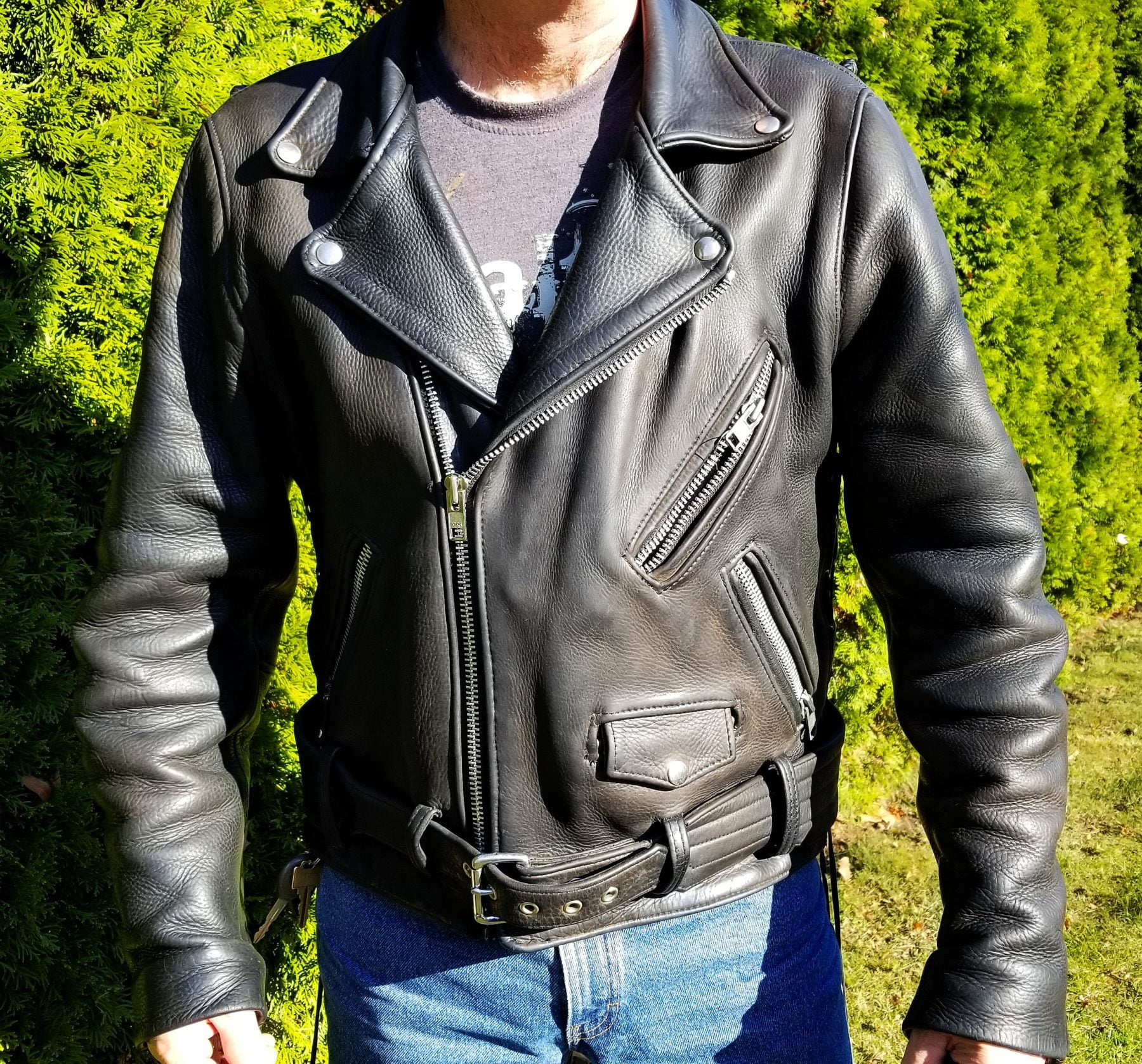 The Heavy Leather Jacket
