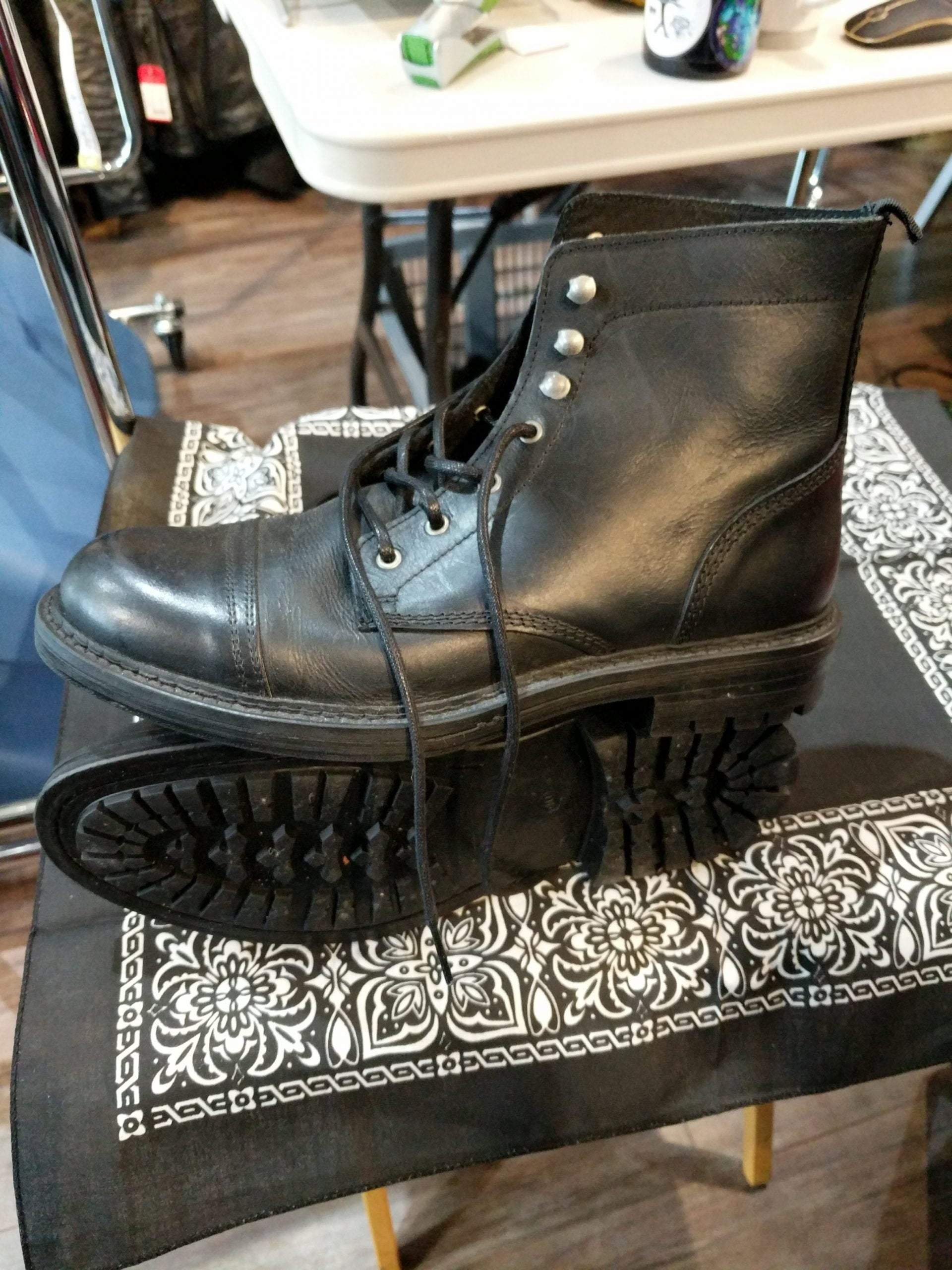 TOPMAN Leather Service BOOTS 23269    ( Size: Euro 40 | men's 8 | women's 9.5 )