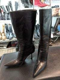 Jimmy Choo Leather High Heeled BOOTS 22452    ( Size: Euro 39.5 | men's 7.5 | women's 9 ) BOOTS BOOTS