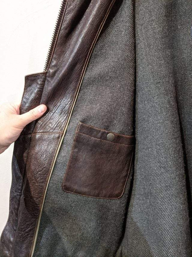 J CREW Leather Flight JACKET 18765 ( Size Lrg m 44″ ) Consignment Consignment