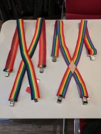 Rainbow Clip-on Suspenders NEW R1104 Miscellaneous Miscellaneous
