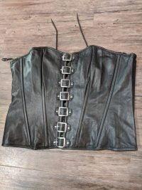 MILWAUKEE Buckled Leather Corset NEW XXXL&Up PUNK & FETISH PUNK & FETISH