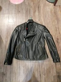 CUSTOM Quality Leather Riding JACKET 20896 XL w 42 Consignment Consignment