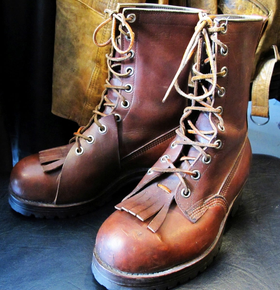 Pierre Paris & Sons Vintage Logging Boots