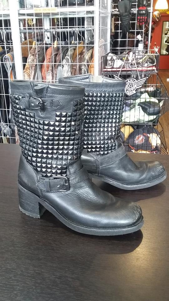 Studded Ash Boots