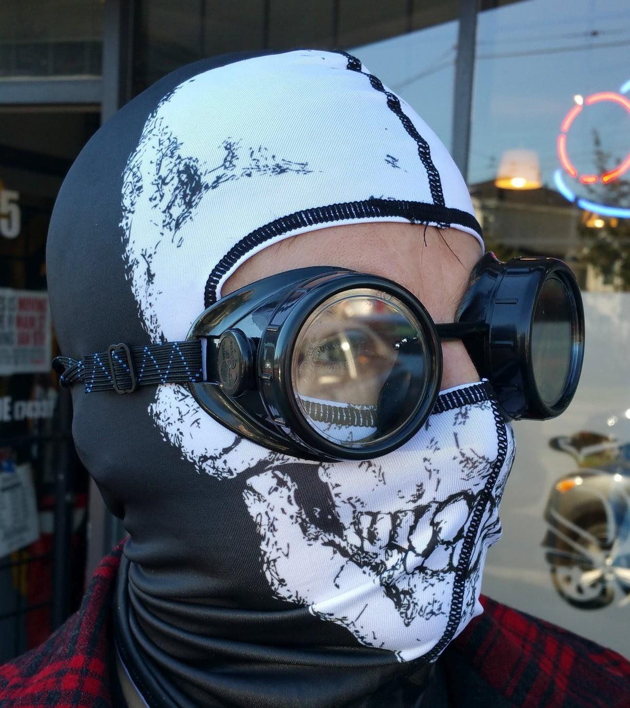 Neoprene face masks, balaclavas, and neck warmers.