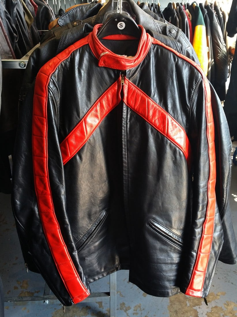 Bates Cafe Racer-style Jacket, size 38 tall, 1970s vintage, near mint.