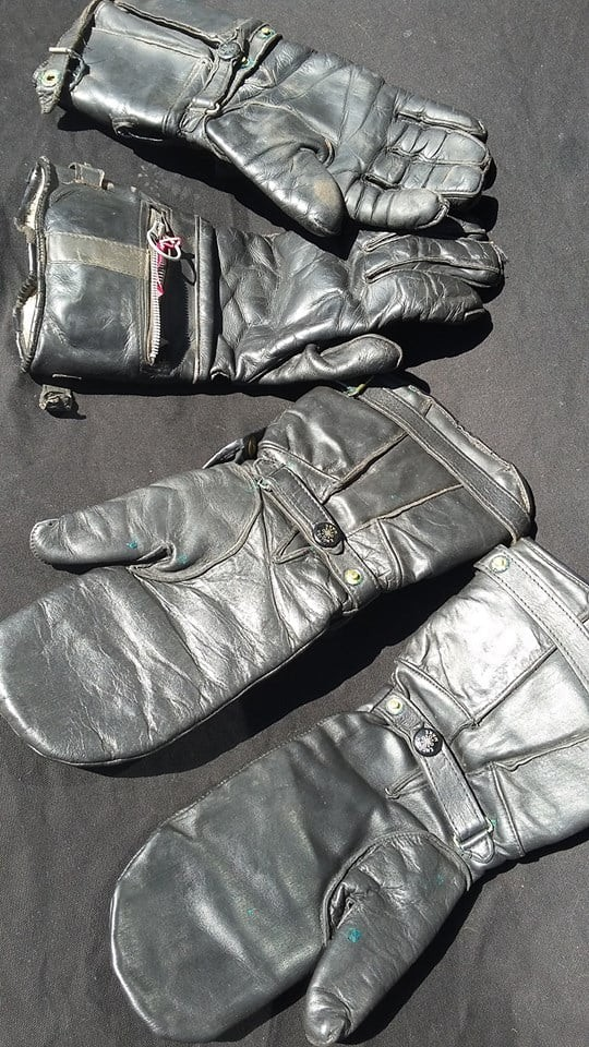 Lewis Leathers Vintage Gauntlets and Mittens, Circa 1950-1960
