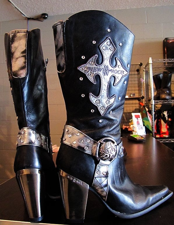 Long Steel Heels on a New Rock Boot