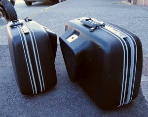 Put Junk in This Trunk – twin 1960s vintage Samsonite motorcycle cases