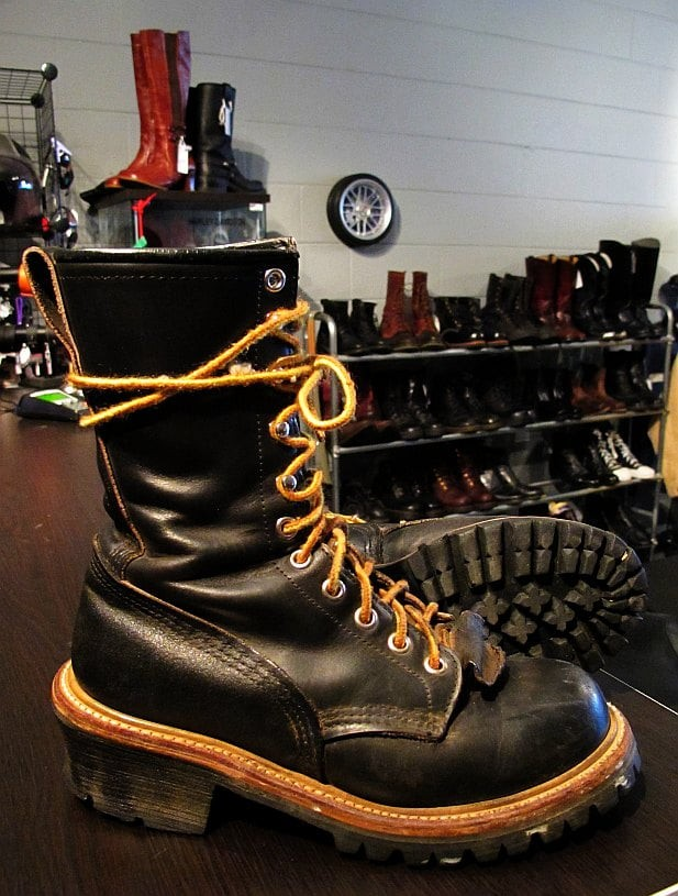 Red Wing Logger Boots, miniature and vintage