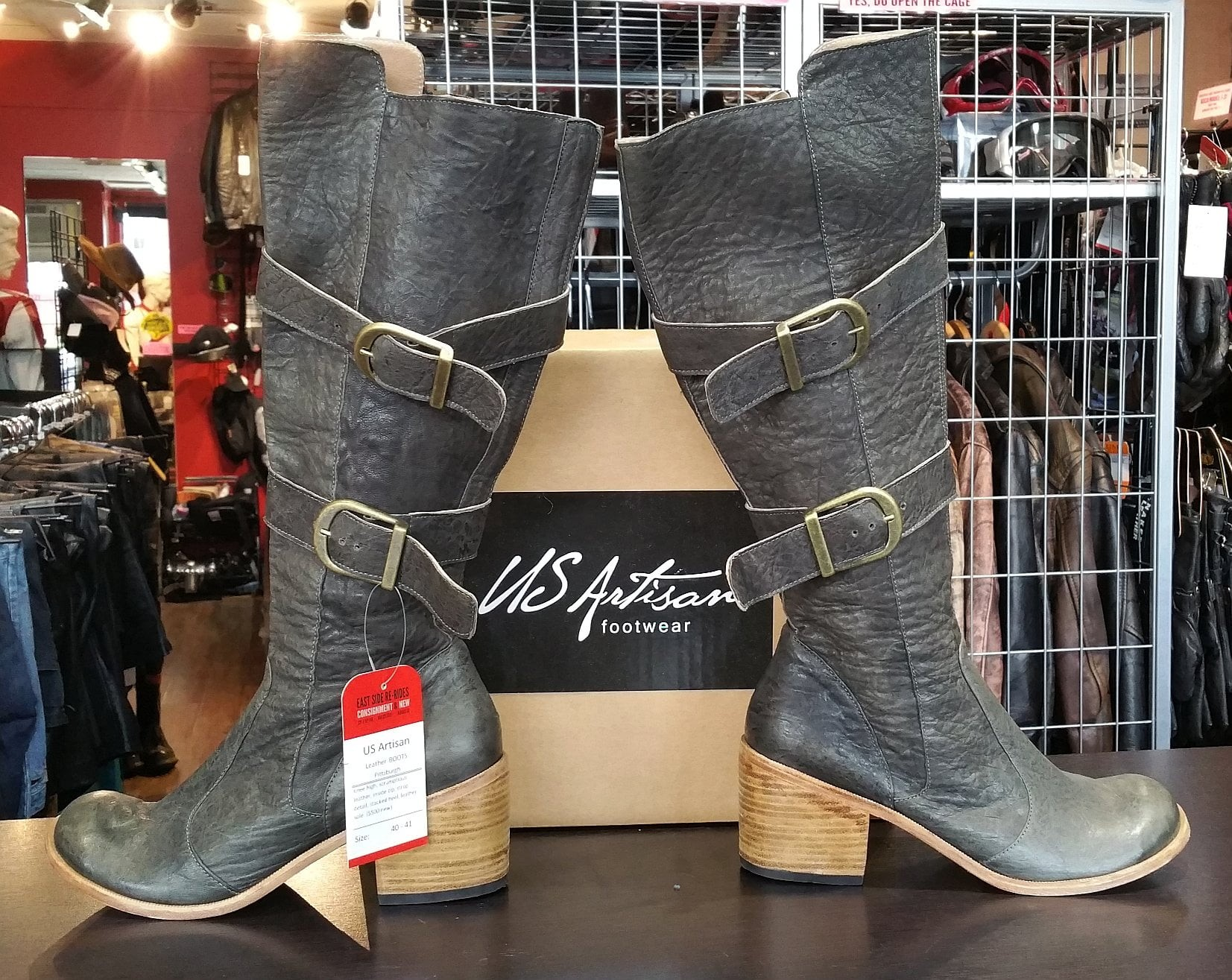 Pittsburgh US Artisan Boots in Charcoal